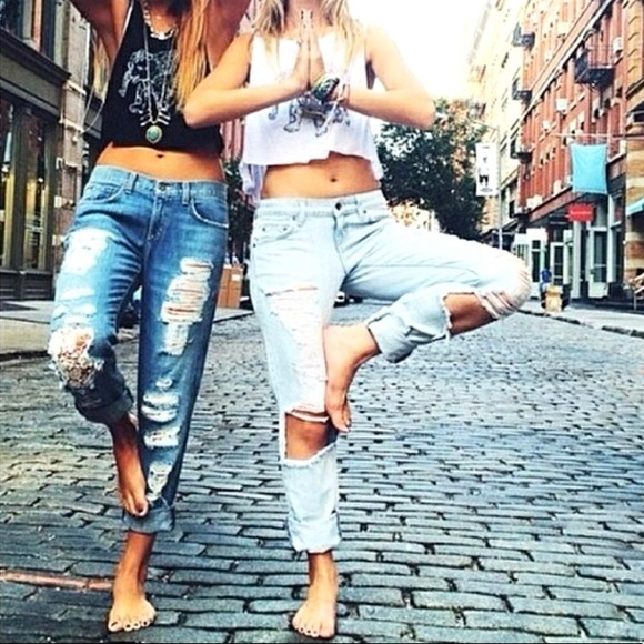 coupon codes special buy best loved LF Carmar super distressed boyfriend jeans